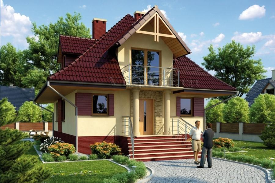 Небольшие дома с мансардой своими руками 11